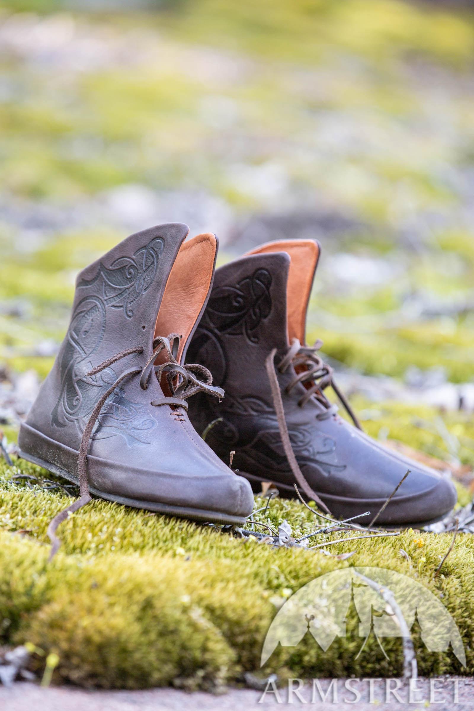 "Geschnürte Wikinger Schuhe ""Kriemhild"""