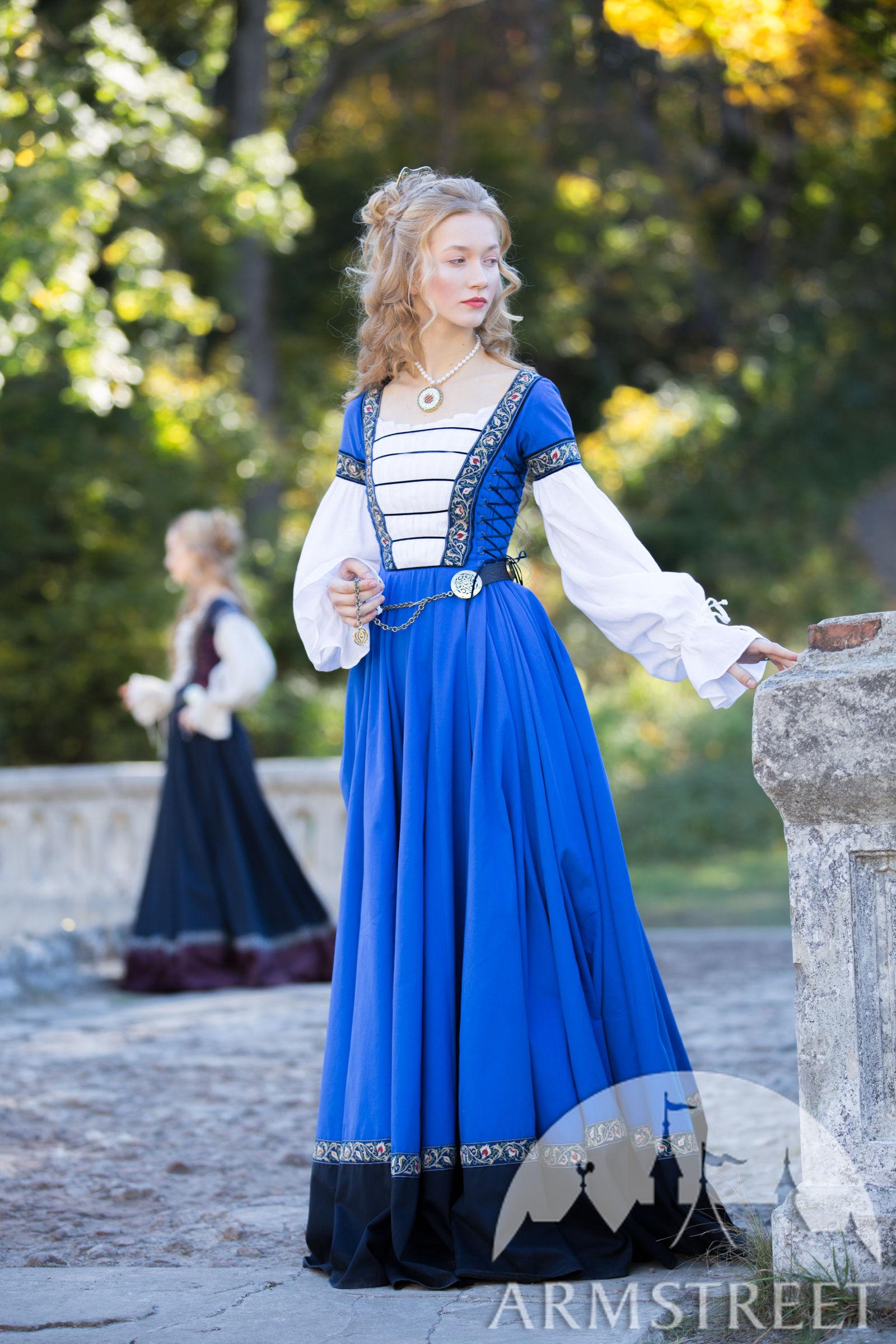 """kleid mit pseudo-frauenhemd """"renaissance erinnerung"""""""