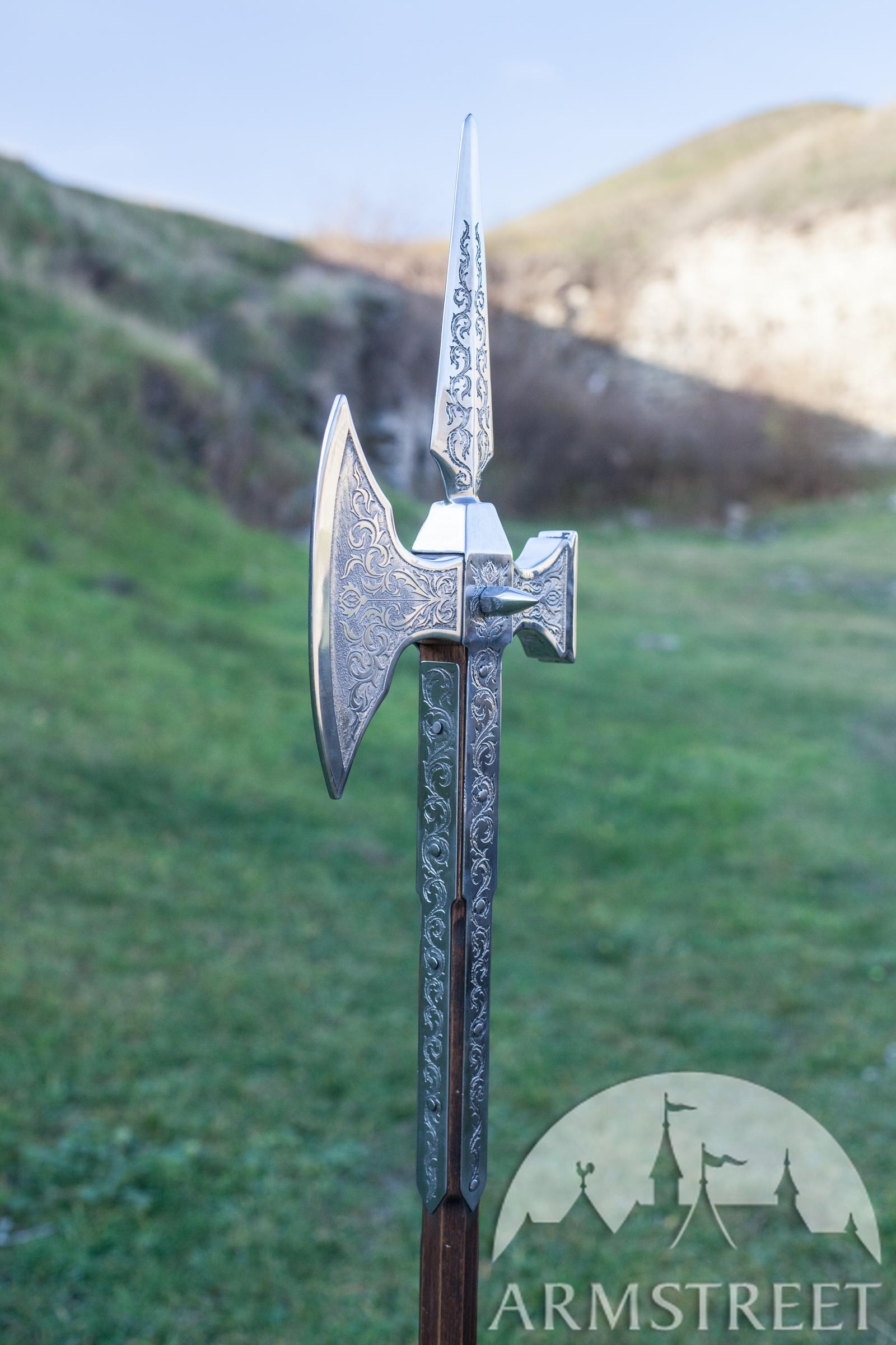 Mittelalter Hellebarde Edler Ritter