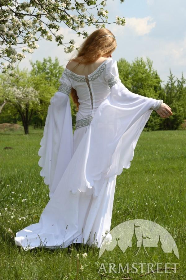 Mittelalter Kleid Fur Hochzeit Isolde Kaufen Vorhanden In Silberne Farbe Gold Armstreet