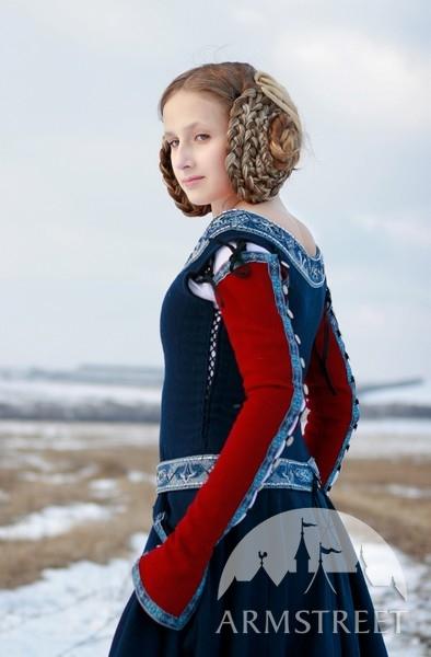 Mittelalter kleid abnehmbare armel