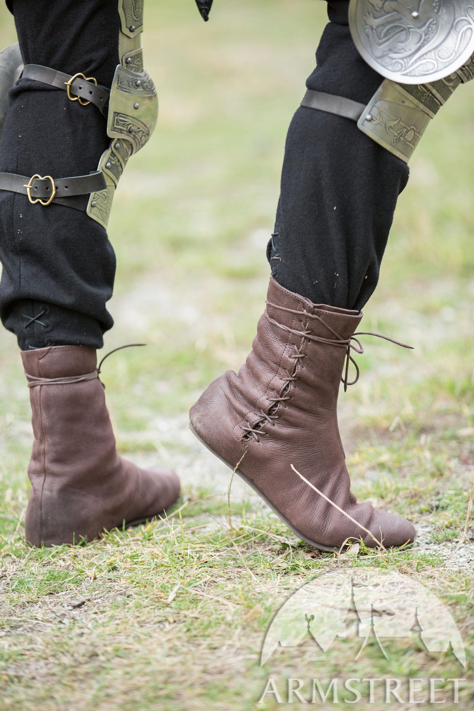Mittelalter Stiefel mit Schnürung
