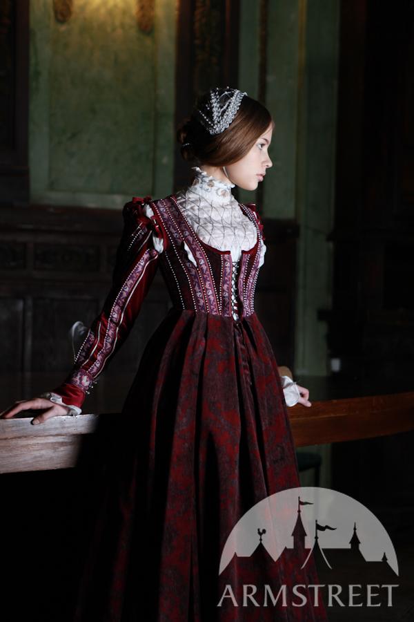 Renaissance Samtkleid Florentiner Mode kaufen. Vorhanden ...